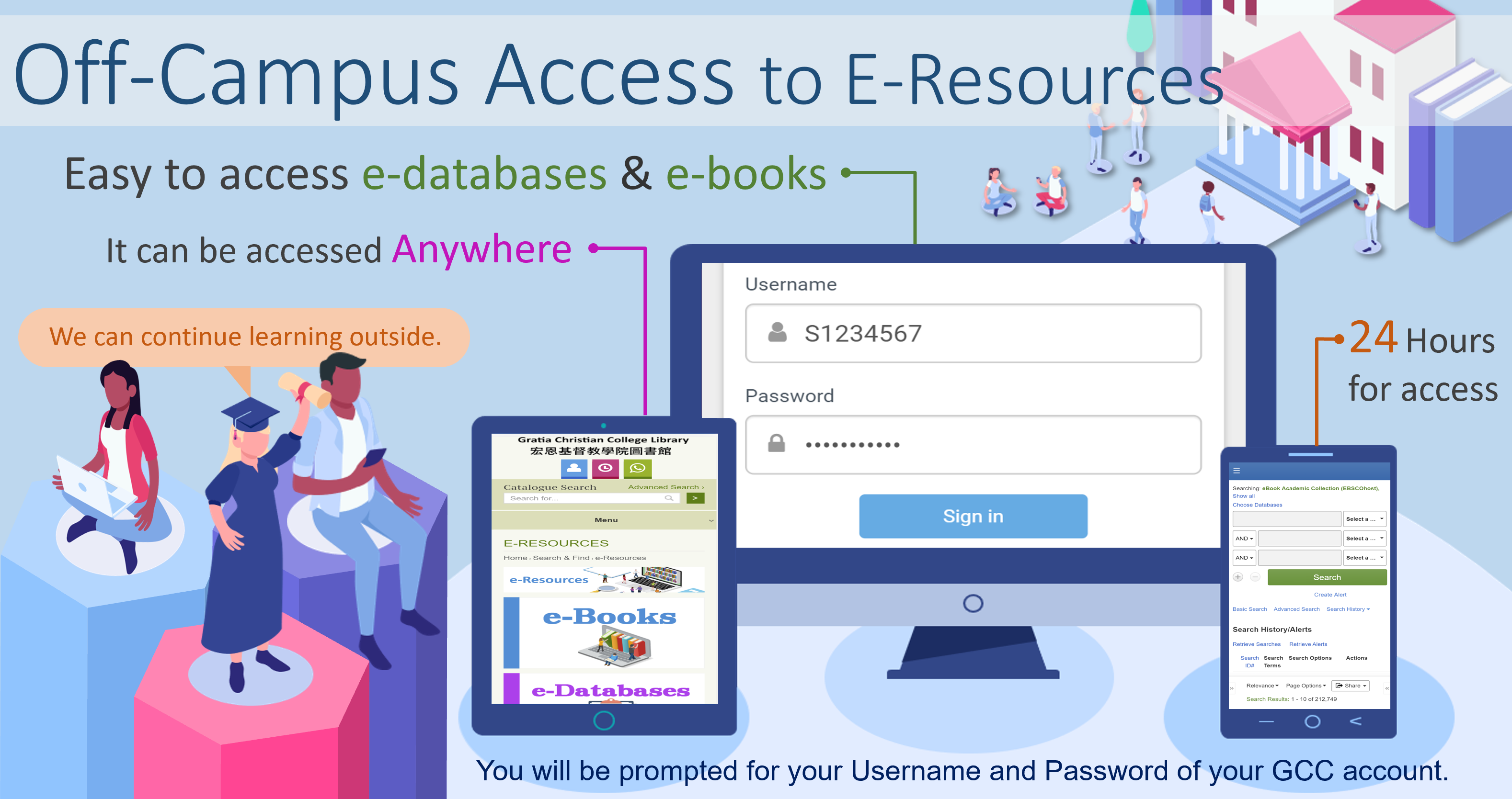 Off-Campus access for e-resources